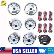 6 Gauge Set With Senders Speedometer Tacho Fuel Temp Volt Oil For Car Boat Yacht