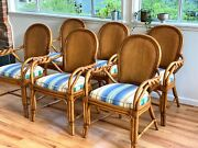 Palecek Vintage Rattan Dining Chairs - Set Of 6andnbsplocal Pickup Only In Seattle