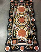30x60 Inch Dining Table Top With Intricate Work Meeting Table From Vintage Craft