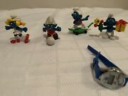 4 Vintage Smurfs And Watch