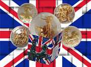 1997 - 2012 Sterling Silver Britannia 24k Gilded 1oz Andpound2 Collectors Editions