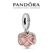 New Authentic Pandora S925 Ale Infinity Heart Rose Gold Dangle Charm Accessories