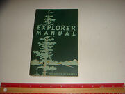 1954 Boy Scout Of America Explorer Manual, Nice Vintage Condition