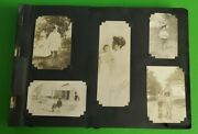 1940and039s Wwii Navy Family Photo Album Jet Oklahoma Battleship And Autograph Book