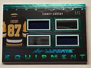 2017-18 Leaf Ultimate Equipment Jersey And Stick Emerald 1/1 Ue-14 Sidney Crosby