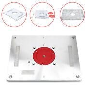 Aluminum Alloy Router Table Insert Plate Woodworking Trimmer Engraving W/wrench
