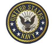 Usn Licensed Navy Eagle Anchor 3 Star Large 10 Inch Embroidered Patch Pw Ld7