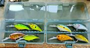 Deep Diver Bass Boss Crankbaits In Small Tackle Boxes-you Choose