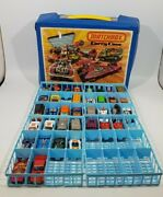 Vintage 1976 Matchbox Carry Case - W/ Cars - Pre-owned