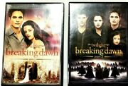 The Twilight Saga Breaking Dawn, Part 1 And 2 Dvd's W/ Digital And Ultraviolet