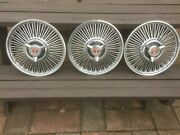 3 Ford Falcon 14 Wire Wheel Covers With Spinners