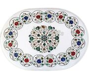 36 X 48 Inches Marble Table Top With Mosaic Art Dining Table For Home Furniture