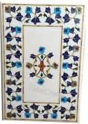 36 X 48 Inches Marble Inlay Table Top Multi Color Stone Dining Table For Home