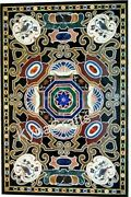 Marble Dining Table Top Mosaic Art Designer Table For Home Decor 36 X 60 Inches