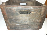 Vintage Quality Checked Wooden Wood Milk Bottle Crate Box 15x12x11
