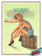 🇺🇸 To Miami Beach 1st.ltd.edition Enhanced Giclee Signed Painted By Koufay