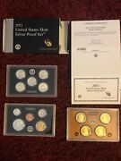 2011 S Proof Set Original Box And Coa 14 Coins 90 Silver Quarters Kennedy Us Mint