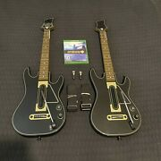 Guitar Hero Live Xbox One Bundle Complete 2 Guitars W/ Dongles Straps Game