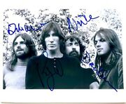 Pink Floyd Band Signed Roger Waters David Gilmour Rick Wright Nick Mason Auto