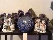 Snowflake Candle Holders Snowman And Magnolia Vintage Home Interiors And Gifts New