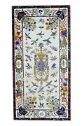 30 X 60 Inch Marble Wall Panel Pietra Dura Art Royal Look Dining Table For Home