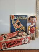 Pinocchio Wooden Carved Vintage Doll