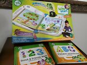 Leap Start Frog 3d Interactive Learning System + 3 Books Kids Working And Tested