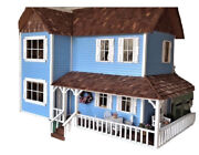 Beautiful Custom Built And Furnished Victorian 3 Story Mansion Dollhouse 112