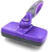 Hertzko Self Cleaning Slicker Brush Andndash Gently Removes Loose Undercoat Mats And T