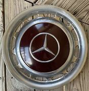 1970s 1980s Mercedes Benz Oem Vintage 14 Inch Wheel Cover Hub Cap Hubcap Red