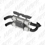 Mbrp Slip On Dual Performance Mufflers For Polaris Rzr Xp Turbo 2016 At-9518pt