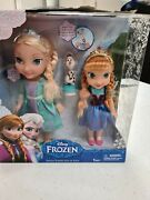 Disney Frozen Deluxe Toddler Elsa And Anna Doll Set Rare Hard To Find Bnib