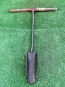 I Black Ford Forge Post Hole Digger Drainage Spade Old Farm Tool Scoop 68a