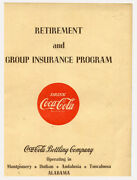 1949 Coca-cola Employee Retirement And Insurance Benefits For Alabama Bottlers