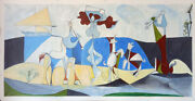 Picasso Style Huge Canvas Hand Painted Oil Paintings - 80x38 Joy Of Life 1946