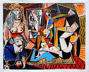 Picasso Style Hand Painted Oil Paintings - 60x46 The Women Of Algiers 1955