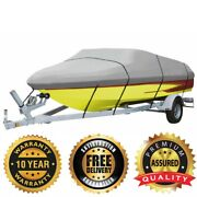 Heavy Duty Boat Cover 600d 17 Ft Up To 96 Marine Grade Polyester Canvas Gray