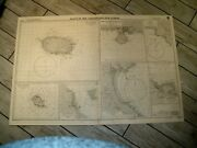 Vintage Admiralty Chart 3224 Plans In The Arquipelago Dos Acores 1963 Edn