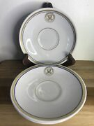 Lot Of 3 Restaurant Ware Shenango China Department Of The Navy Saucers