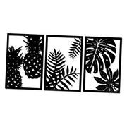 Rustic Metal Wall Art Decor Tropical Wall Sculpture Pineapple Palm Tree Leaves