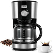 🌟12 Cup🌟 Coffee Maker With Removable Filter Basket, Ergonomic Handle New(usa