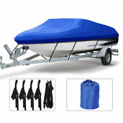 20-22ft 600d Oxford Fabric High Quality Waterproof Boat Cover W/storage Bag Blue