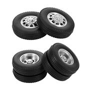 2 Set Of Rc 85mm Rubber Tyres Set Fit For Tamiya 114 Tractor Truck Accs