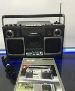 National Panasonic Rs-4300 Cassette Radio Boom Box Vintag Maintained Works