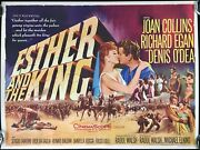 Esther And The King Original Quad Movie Poster Joan Collins Tom Chantrell 1960
