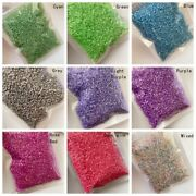 0.8x3mm Glass Loose Seeds Tube Beads Spacer Diy Jewelry Wedding Craft 100 Grams