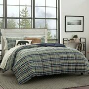 Eddie Bauer Home | Rugged Collection | Bedding Set-soft And Cozy Reversible P...