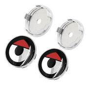 60mm Cover Red Smart Logo Badge Wheel Hub Centre Cap 4x New For Smart Vehicles