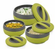 Multicolor Kitchen Inner Steel Casserole Gift Set - 3 Us