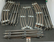 Post War O27 0 O Lot Of 27 Lionel Curved And Straight Track Vintage
